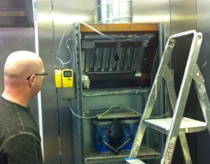 Monitoring cooking odours at Sirius' test kitchen