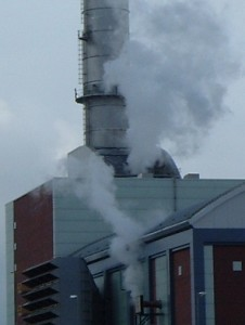 Air pollution emissions from gas power station