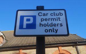 Car club parking sign