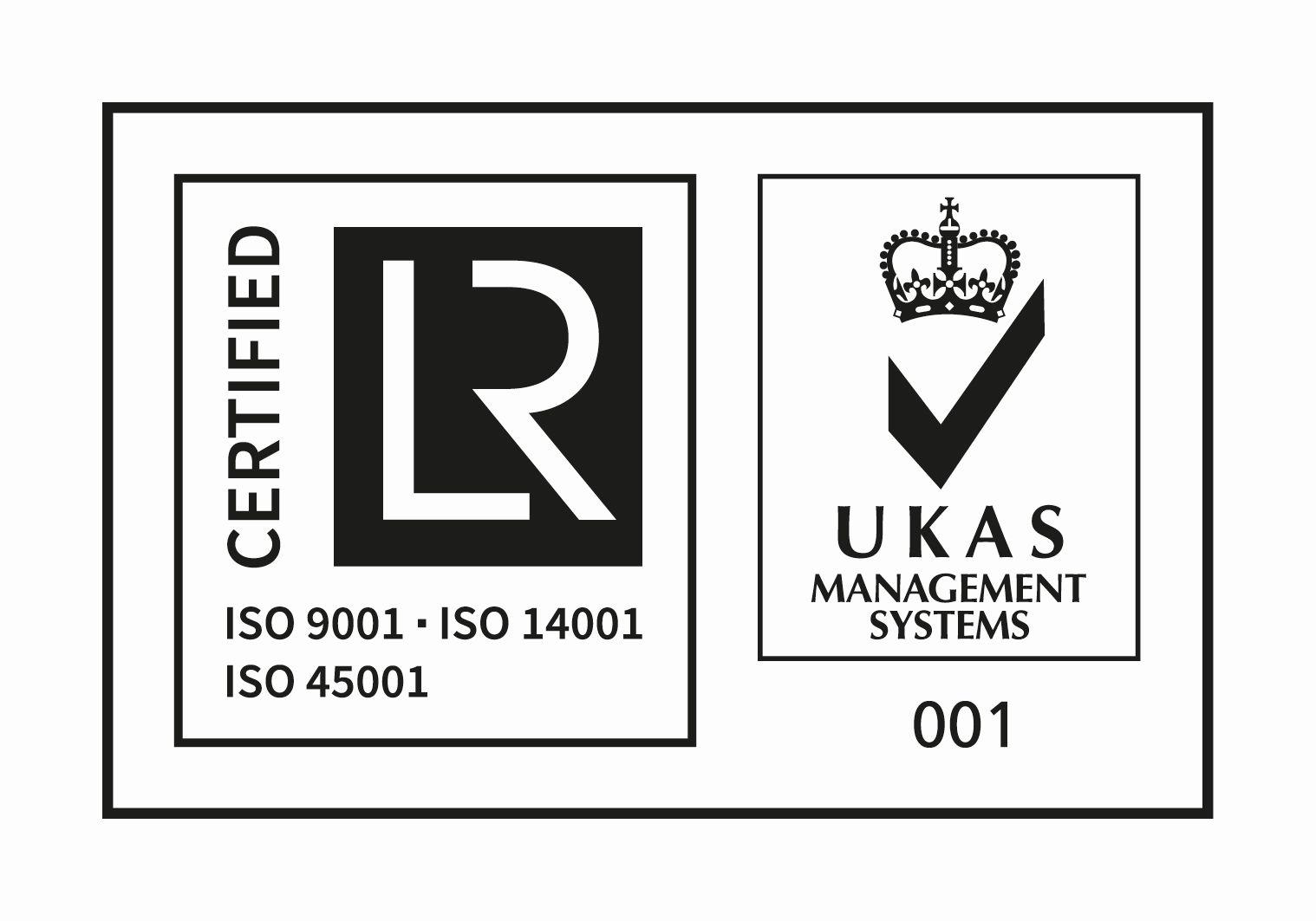 UKAS ISO 9001 - ISO 14001 - ISO 45001